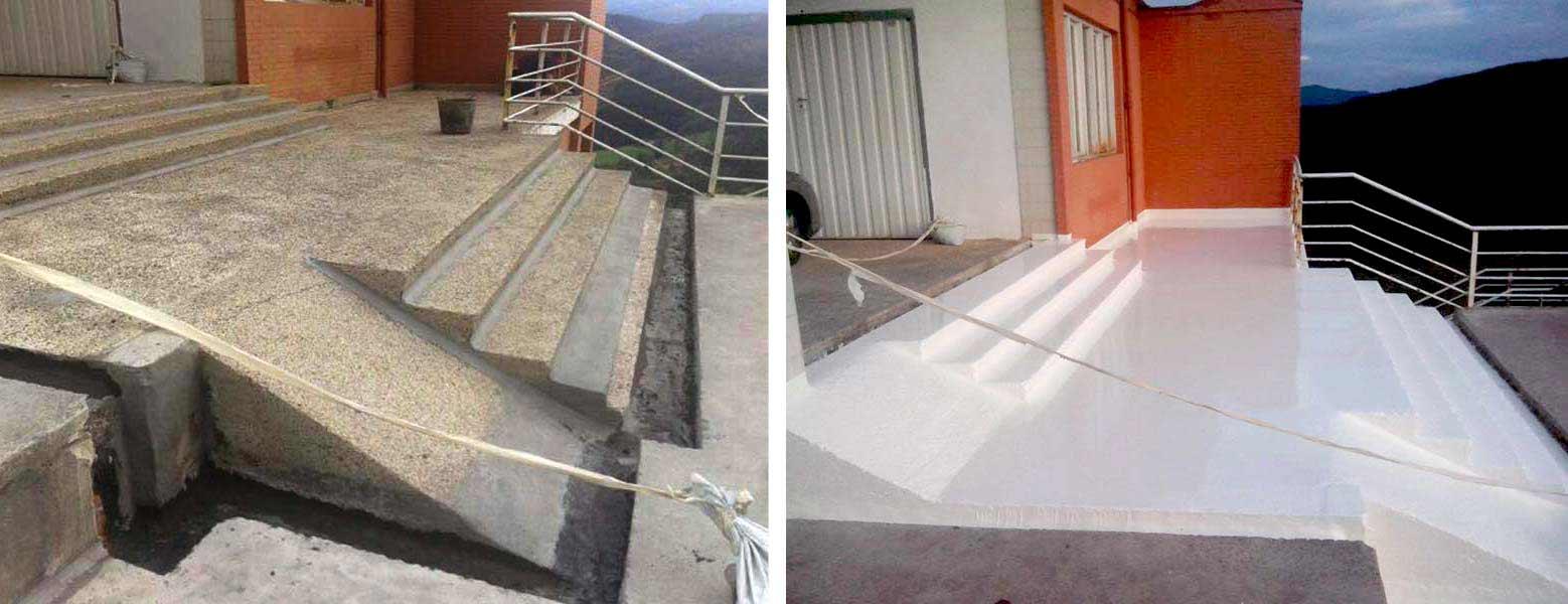 Escaleras impermeabilización poliurea