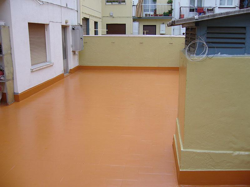 Terrazas impermeabilización poliurea sin obras