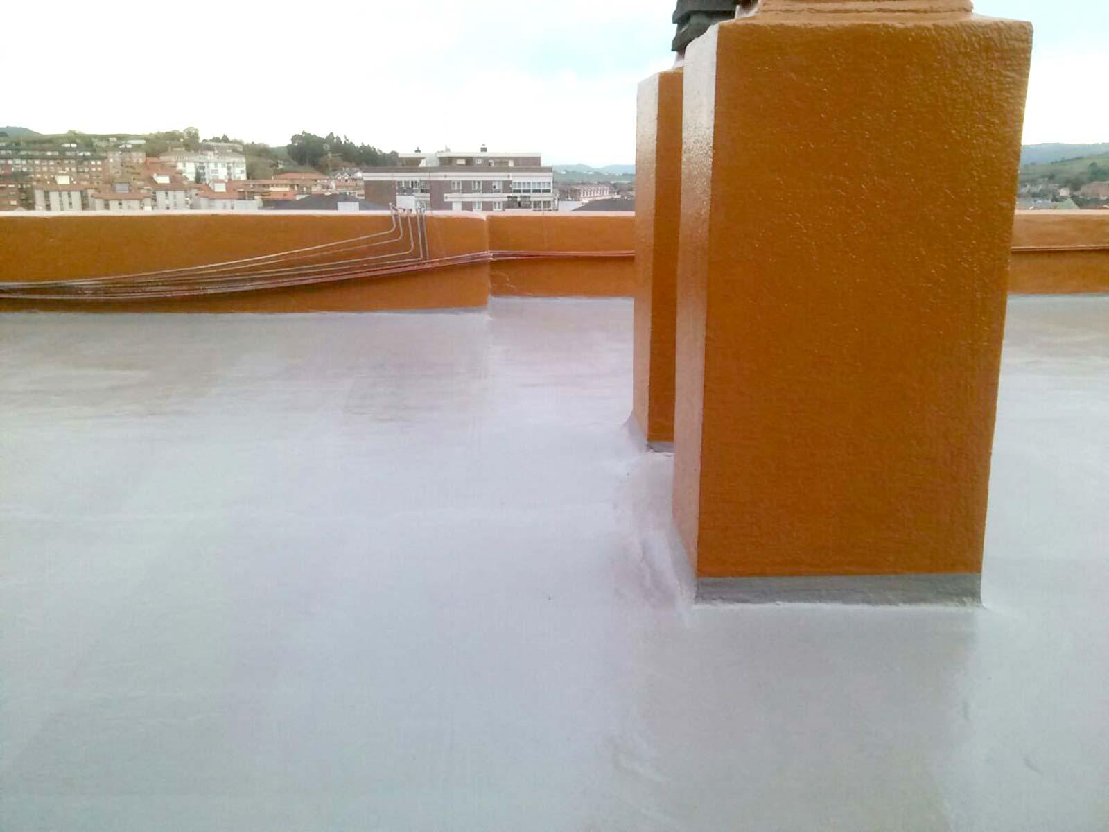 Cubierta impermeabilización poliurea transitable