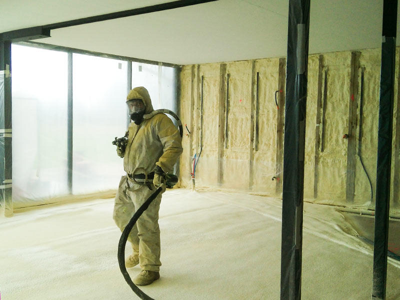 aislamiento suelo y paredes poliuretano
