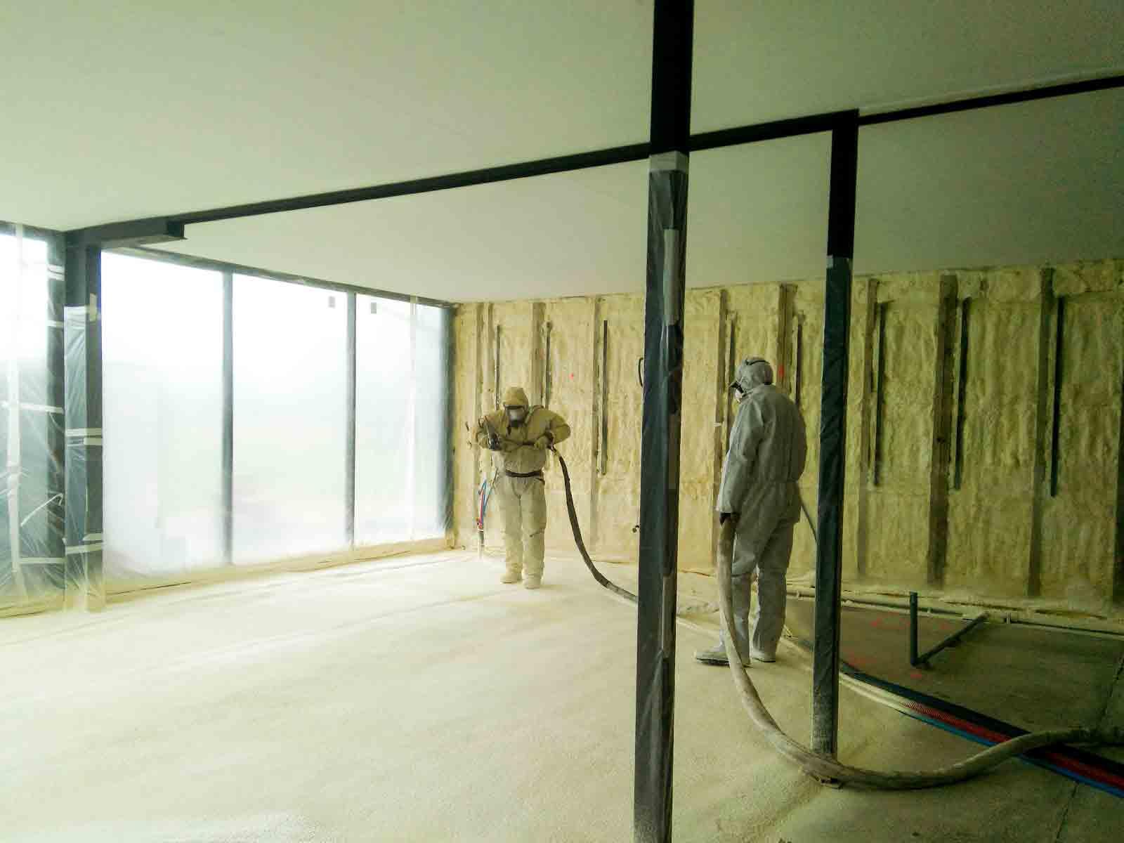 Aislamiento e impermeabilización de suelos y paredes