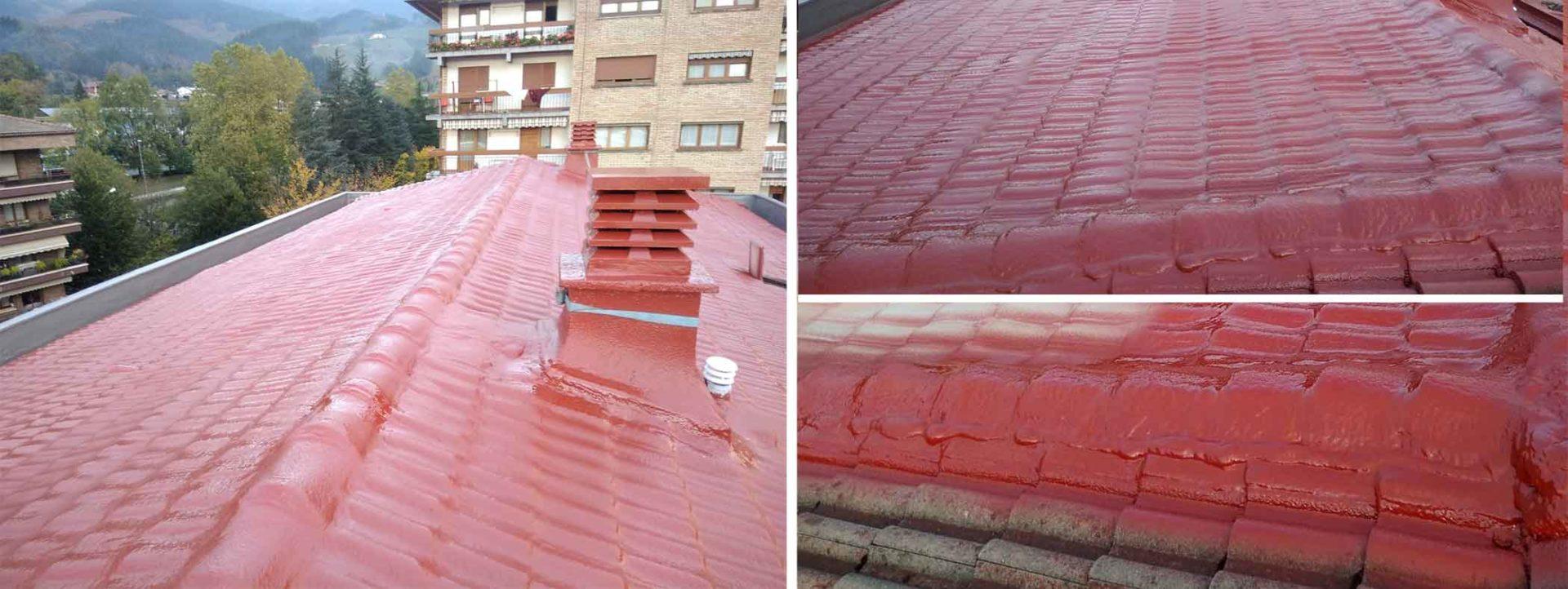 Poliurea-sobre-cubierta-teja-aislamiento-impermeabilizacion
