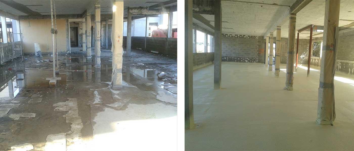 Aislamiento e impermeabilización de suelos, cubiertas y tejados